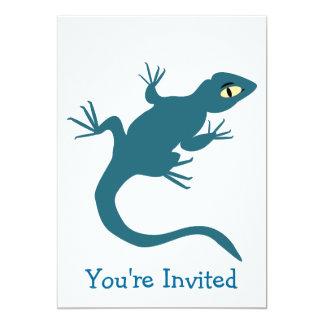 """Lagarto azul cualquier ocasión invitación 5"""" x 7"""""""