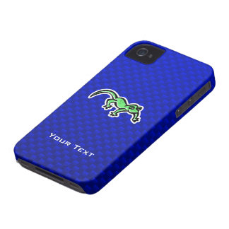 Lagarto; Azul iPhone 4 Case-Mate Cobertura