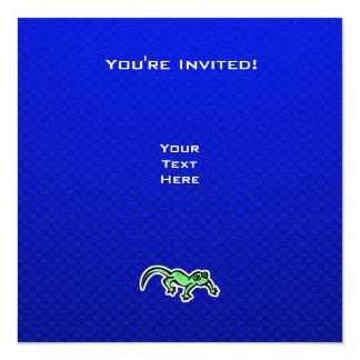 """Lagarto; Azul Invitación 5.25"""" X 5.25"""""""
