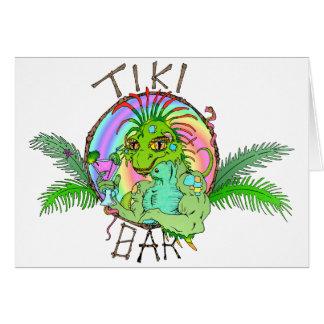 Lagarto de la barra de Tiki Tarjeta De Felicitación