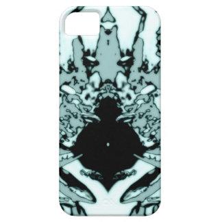 lagarto de la mancha blanca /negra de la tinta iPhone 5 fundas