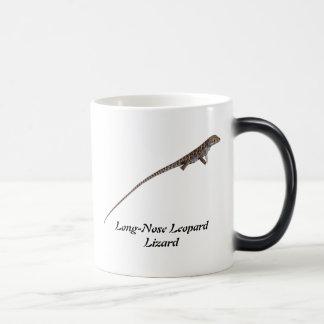 Lagarto de leopardo de pico largo taza de café