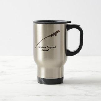 Lagarto de leopardo de pico largo taza