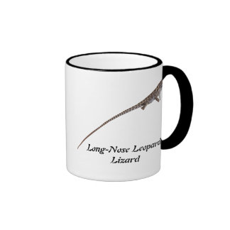 Lagarto de leopardo de pico largo tazas de café