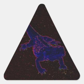 Lagarto de neón calcomanías triangulos personalizadas
