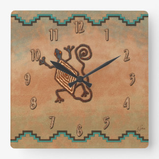 Lagarto de piedra relojes de pared