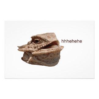 Lagarto de risa de la iguana HeHe Papelería Personalizada