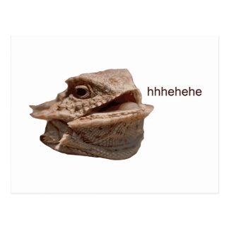 Lagarto de risa de la iguana HeHe Tarjetas Postales