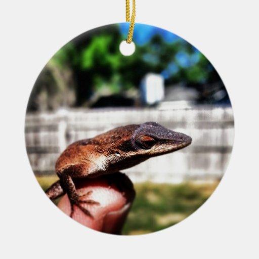 Lagarto del bebé ornamento para arbol de navidad