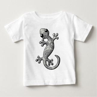 Lagarto del Gecko del blanco que sube gris Playera