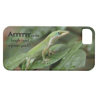 Lagarto divertido del Gecko, Arrrrrr, pirata iPhone 5 Carcasas