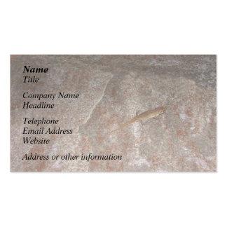 Lagarto en piedra plantilla de tarjeta de negocio