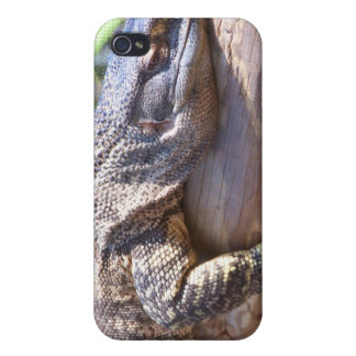 lagarto grande en cierre del registro para arriba iPhone 4/4S carcasas