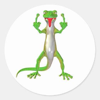 Lagarto grosero del Gecko Pegatina Redonda
