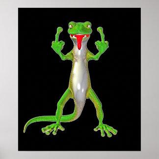 Lagarto grosero del Gecko Póster