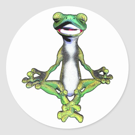 Lagarto Meditating del Gecko Pegatina