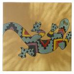 Lagarto pintado del gecko en la pared, Tucson, Ari Azulejos Ceramicos