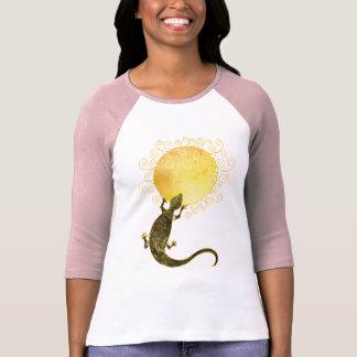 Lagarto que lleva a cabo el Sun: Señoras 3/4 raglá Camisetas