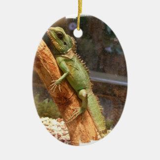 Lagarto que sube un ornamento del árbol ornamentos de navidad