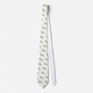 Lagarto tropical corbatas personalizadas