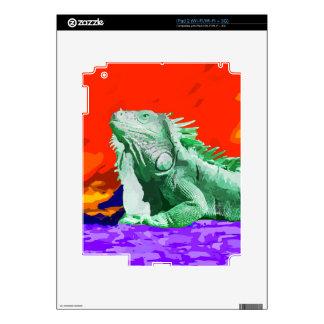 Lagarto verde de la iguana iPad 2 calcomanía