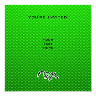 """Lagarto verde invitación 5.25"""" x 5.25"""""""