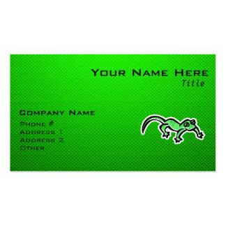Lagarto verde tarjeta de visita