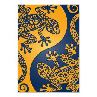 Lagartos azules de oro de Yin Yang Comunicados