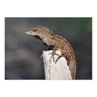 "Lagartos de los lagartos de los lagartos invitación 5"" x 7"""