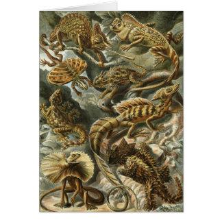 Lagartos del vintage, Lacertilia de Ernst Haeckel Tarjeta De Felicitación