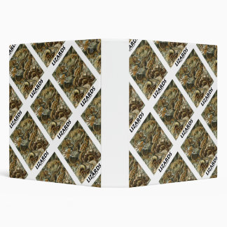 "Lagartos Ernesto Haeckel Artforms de la naturaleza Carpeta 1 1/2"""