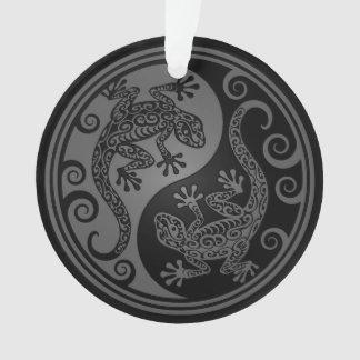 Lagartos grises y negros de Yin Yang