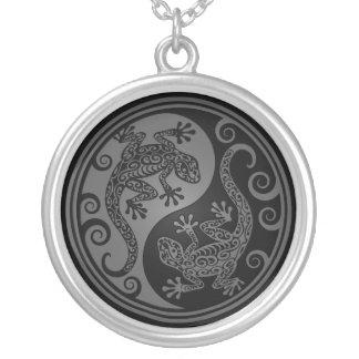 Lagartos grises y negros de Yin Yang Grimpola Personalizada