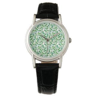 Lagartos mareados - reloj blanco