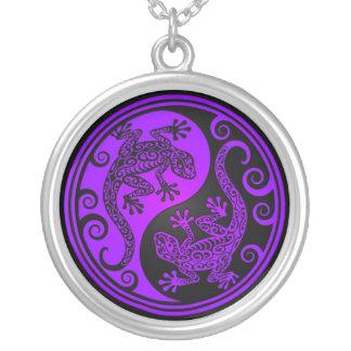 Lagartos púrpuras y negros de Yin Yang Joyeria Personalizada