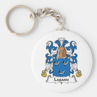 Lagasse Family Crest Basic Round Button Keychain
