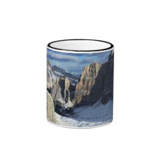 Lagazuoi Mountain Snow Ringer Coffee Mug