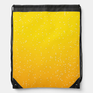 Lager Beer with Tiny Bubbles Background Art Drawstring Bag