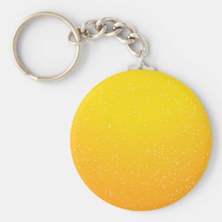 Lager Beer with Tiny Bubbles Background Art Keychain