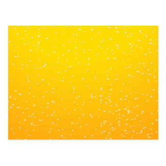 Lager Beer with Tiny Bubbles Background Art Postcard