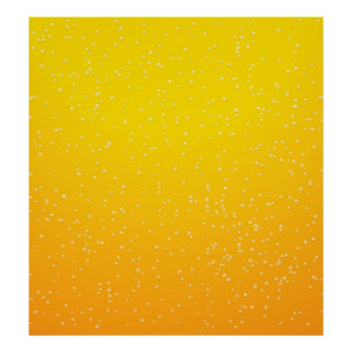 Lager Beer with Tiny Bubbles Background Art Poster