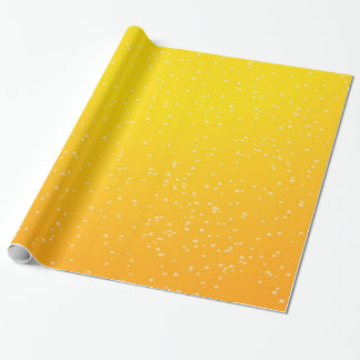 Lager Beer with Tiny Bubbles Background Art Wrapping Paper