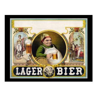 Lager bier postcard