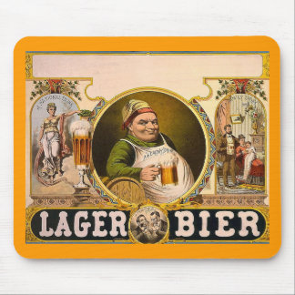 Lager Bier - The Healthy Drink! Vintage Ad Mouse Pad