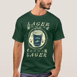 LAGER Pull tab beer can Yellow and Green T-Shirt