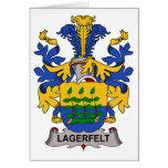 Lagerfelt Family Crest Greeting Card