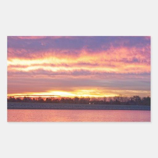 Lagerman Reservoir Sunrise Rectangular Sticker