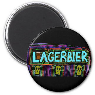 Lagers Are the Best Beers 2 Inch Round Magnet