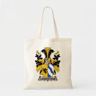 Lagerstrom Family Crest Canvas Bags