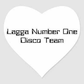 Lagga Number One Disco Sticker